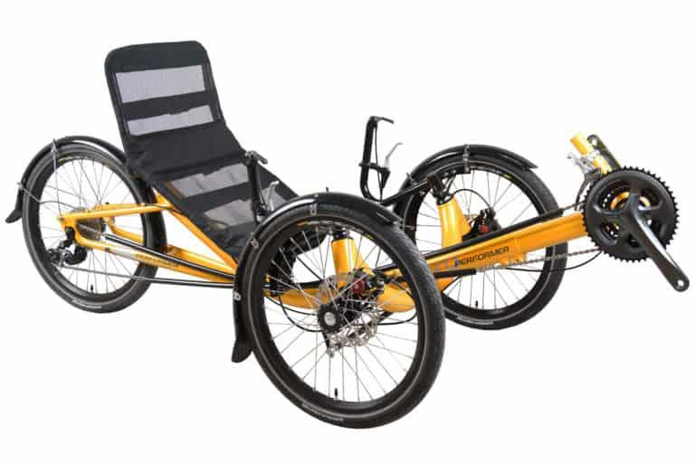 Performer tricycle couche petites roues - JC20 recumbent-trike-mesh-seat-front